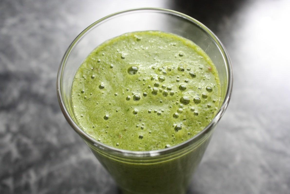 grüner Smoothie Spinat
