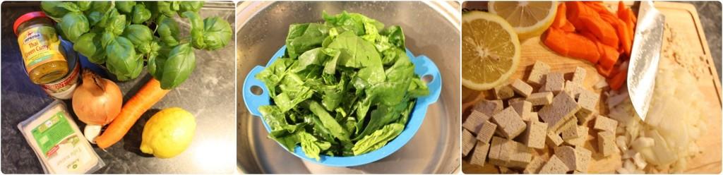 Thai Green Curry Soup Zutaten
