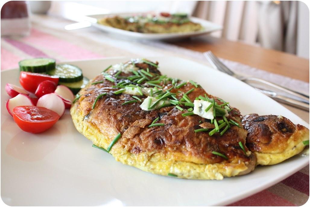 Pilzomelett mit Gorgonzola