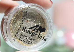 Manhattan Rouge La la Nail Art Glitter gimme gold