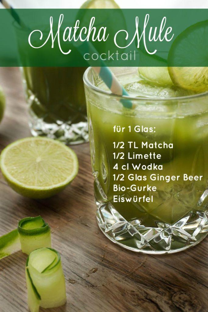 Matcha Mule Cocktail einfaches Rezept